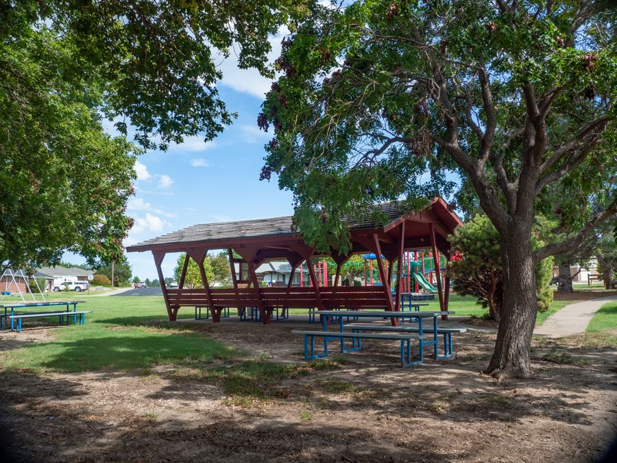 Hickok covered picnic tables