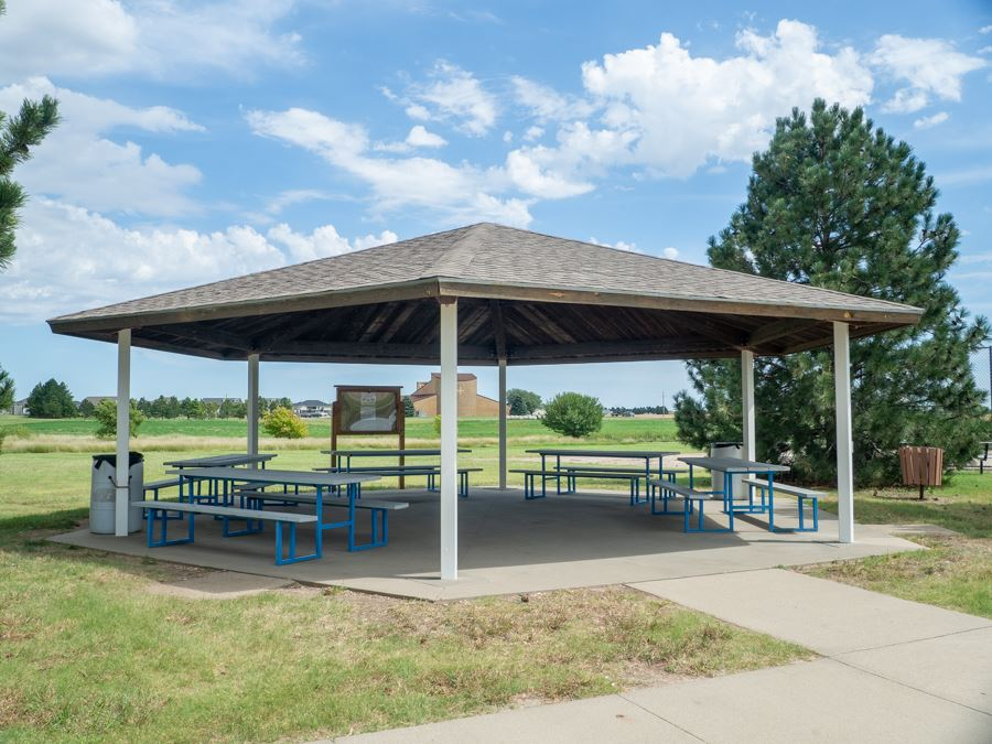 Kiwanis covered picnic tables